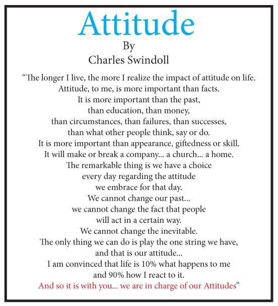 Attitude - Swindoll quote